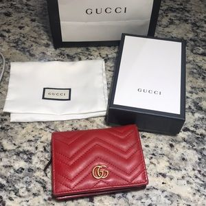 Gucci Marmont Red wallet
